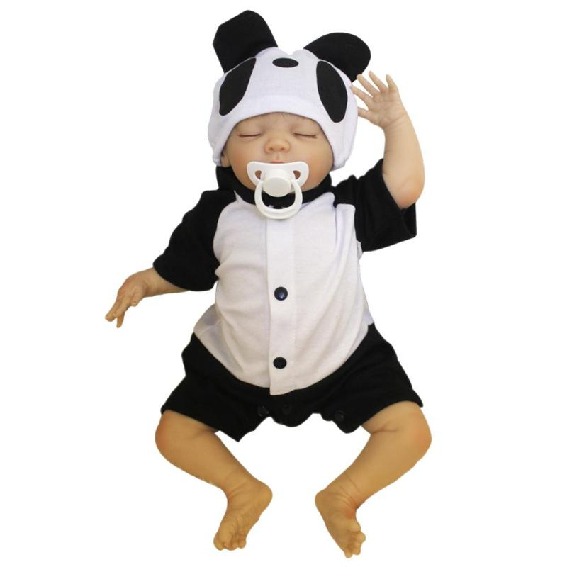 NPK 48cm Panda Cloth Cotton Simulation Doll Lifelike Realistic Vinyl Reborn Baby Doll Toys Kids Girls Playmate Gifts Baby CareNPK 48cm Panda Cloth Cotton Simulation Doll Lifelike Realistic Vinyl Reborn Baby Doll Toys Kids Girls Playmate Gifts Baby Care