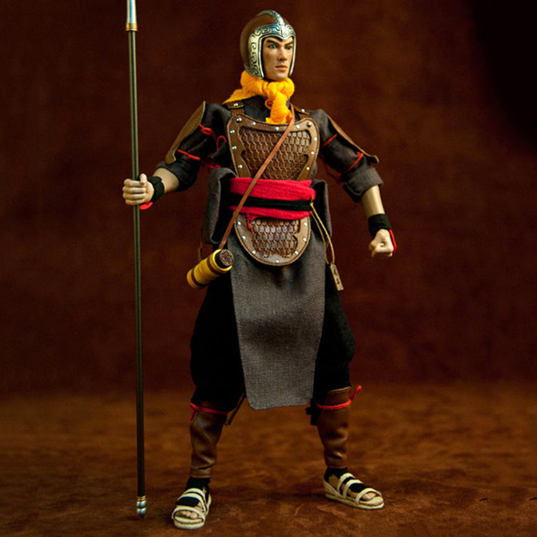 "1/6 Scale 12"" Movable Soldier Model Simulation Chinese Ancient Martial Arts Action Figure Dolls Gift Three Kingdoms Toys For Men"