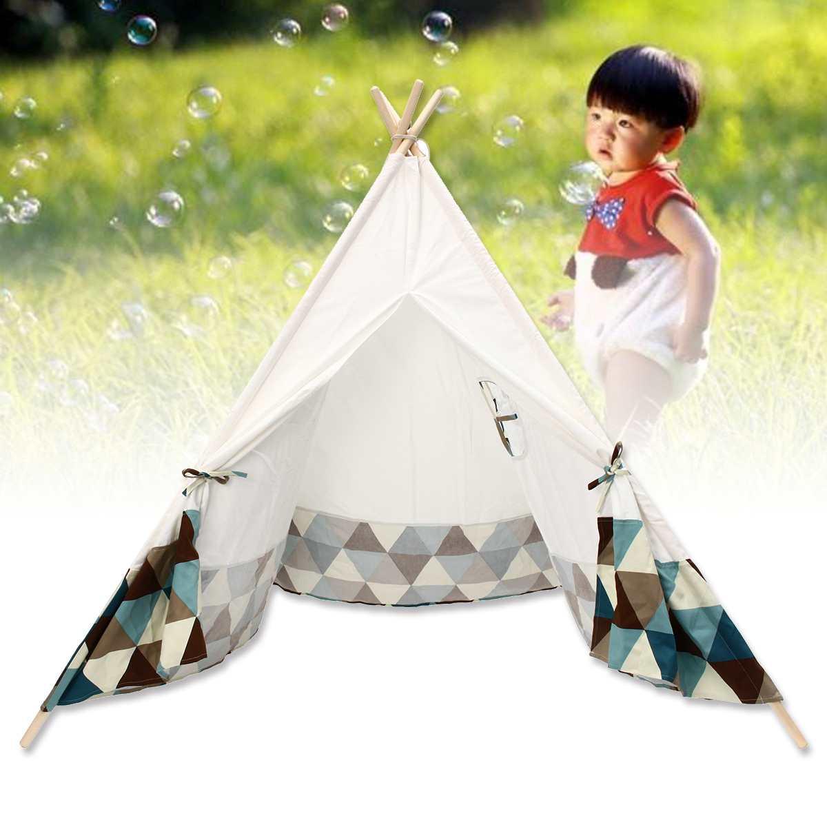 Enfants jouet tentes Portable enfants jouer tente coton toile Playhouse enfants dormir jouer tipi intérieur balle piscine cadeau playhomes