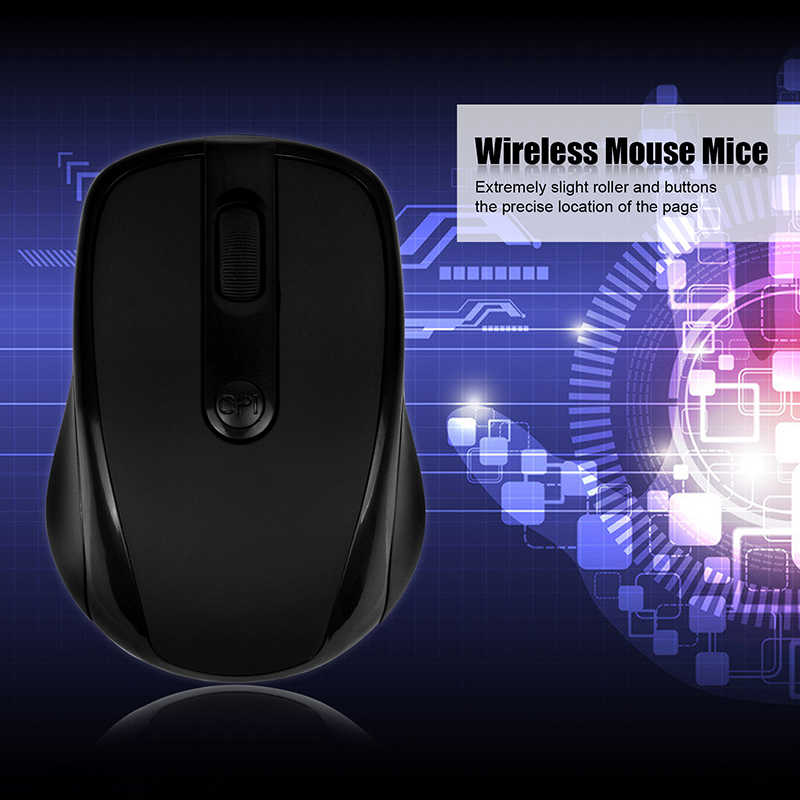POWSTRO مصغر USB ماوس لاسلكي صغير بصري 1000 ديسيبل متوحد الخواص الفئران اللاسلكية مع USB دونغل للكمبيوتر اللوحي المحمول الدفتري