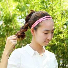 купить Yoga Hair Ribbon Elasticated Candy Elastic Hairband Stylish And Practical Headband Double Antiskid Running Headband Unisex дешево