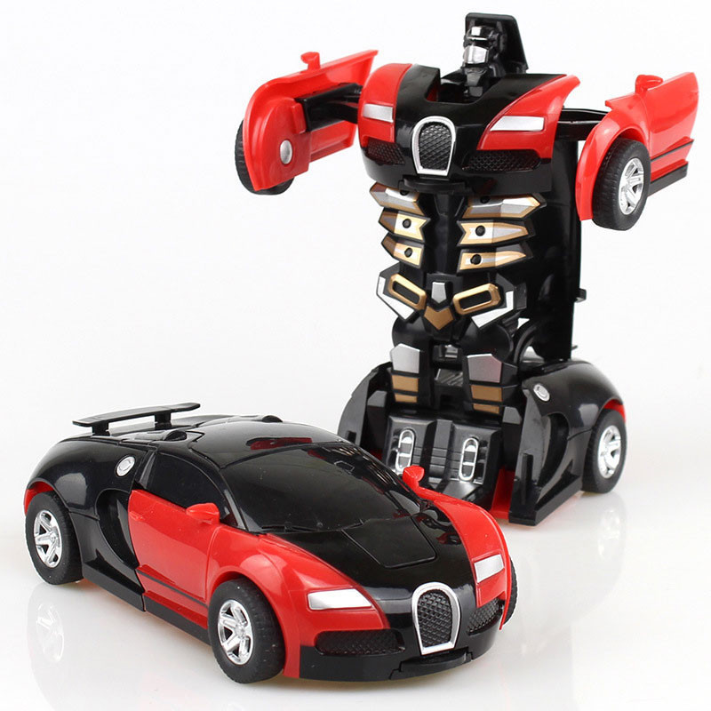 Transformer Pull Back Diecast Model Toy Collection Car Vehicle Toys For Boys Children Christmas Gift Collision Deformation