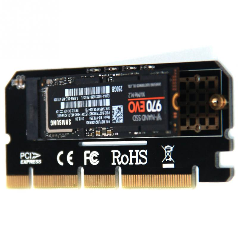 Led Full Speed Computer Adapter Support Expansion Card PCI Express M Key Network Interface M.2 NVMe SSD  To PCIE 3.0 X16