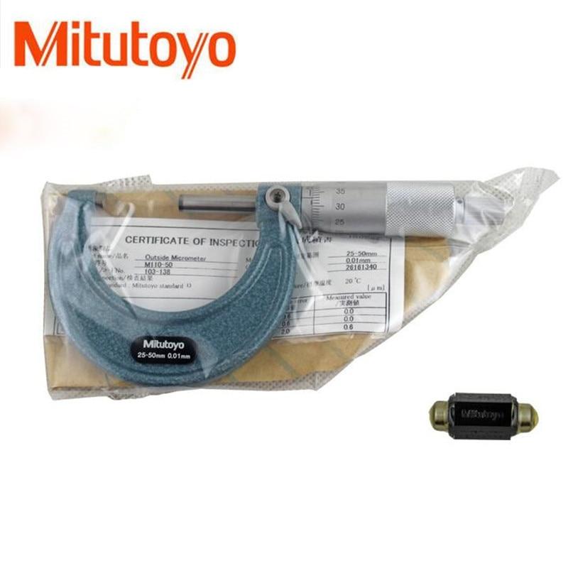 1pcs Mitutoyo Outside Micrometers 0 25 25 50 50 75mm Metalworking Measuring Accuracy 0.01mm Measuring Gauging Tools Measurement