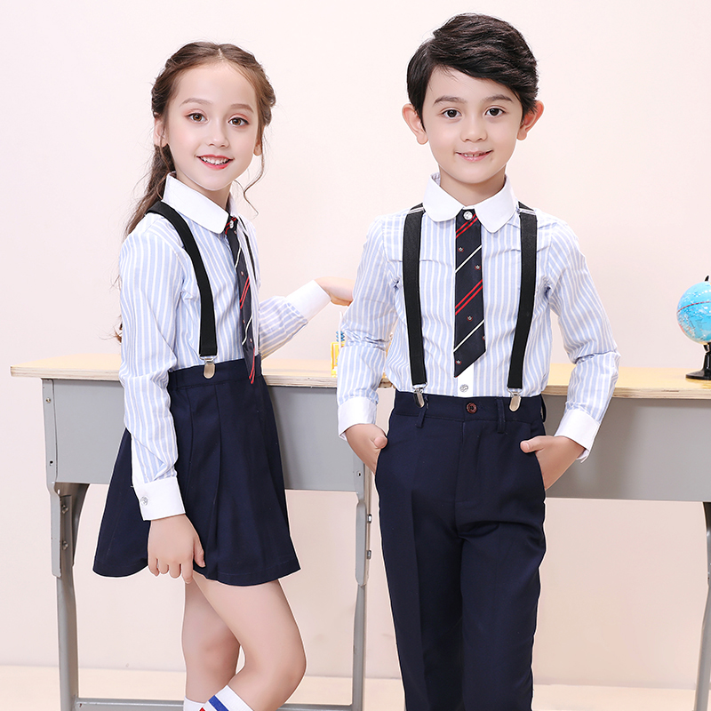 Japanese Fashion Kindergarten Uniform Primary School Students Uniform School Girl Skirts With Straps Japanese School Uniform