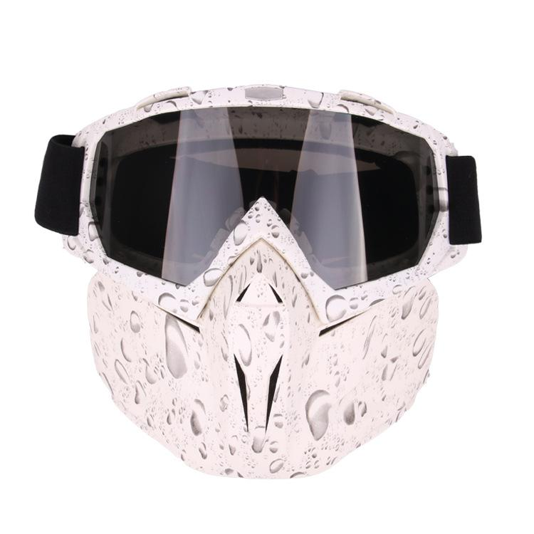 LumiParty unikalne okulary Motocross okulary maska przeciwpyłowa z odpinanym motocyklem filtr na usta gogle maska podwójna pianka