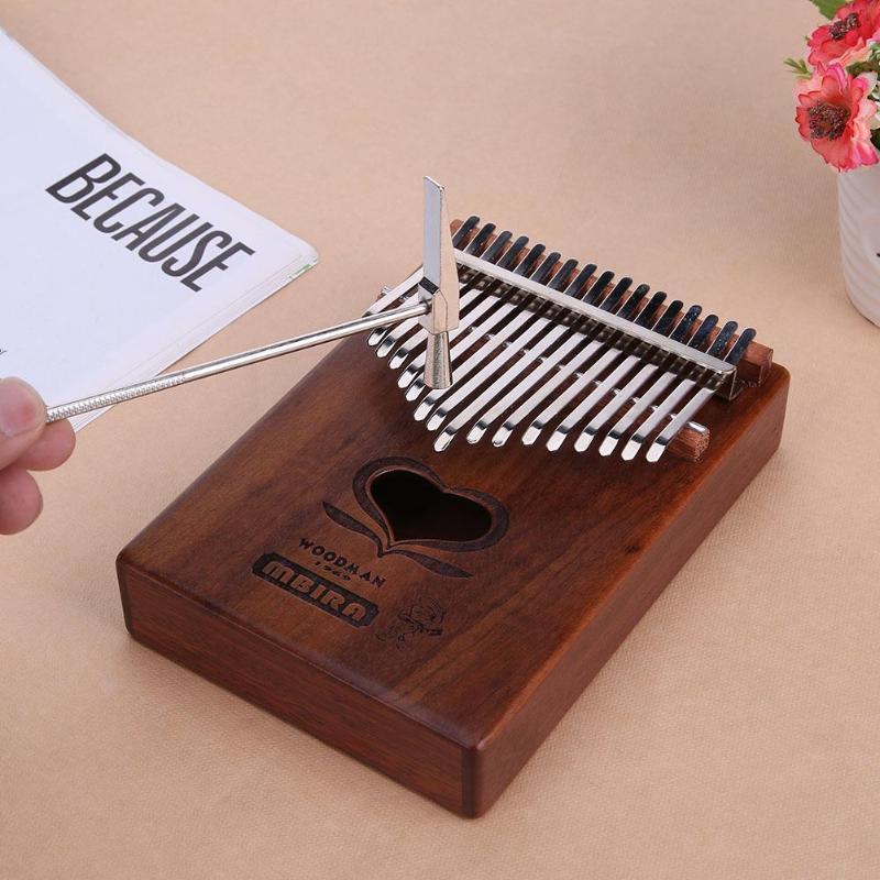 17 touches en bois Kalimba musique pouce Piano doigt Percussion clavier Portable Instrument de musique traditionnel