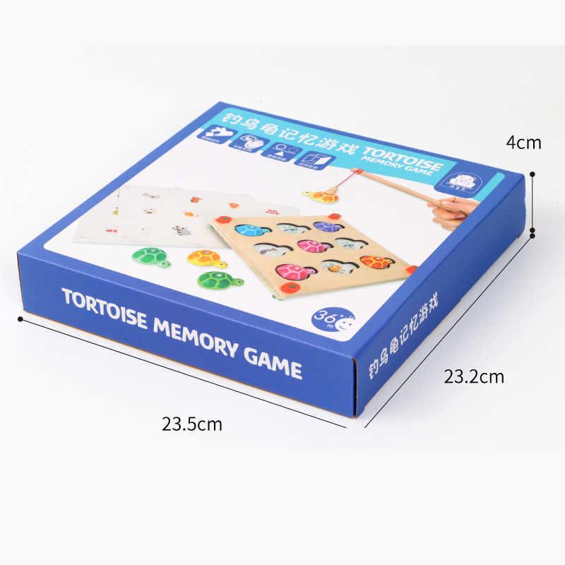 Игра памяти и рыбалка 2 в 1 деревянный Монтессори игрушки для детей дошкольного возраста семейные вечерние интерактивные игрушки 48