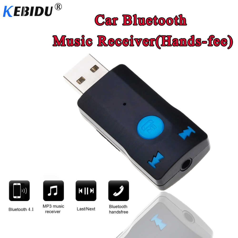 Kebidu récepteur Bluetooth AUX 3.5mm adaptateur sans fil USB Dongle Audio pour appeler le récepteur de haut-parleur de voiture connecteur Bluetooth