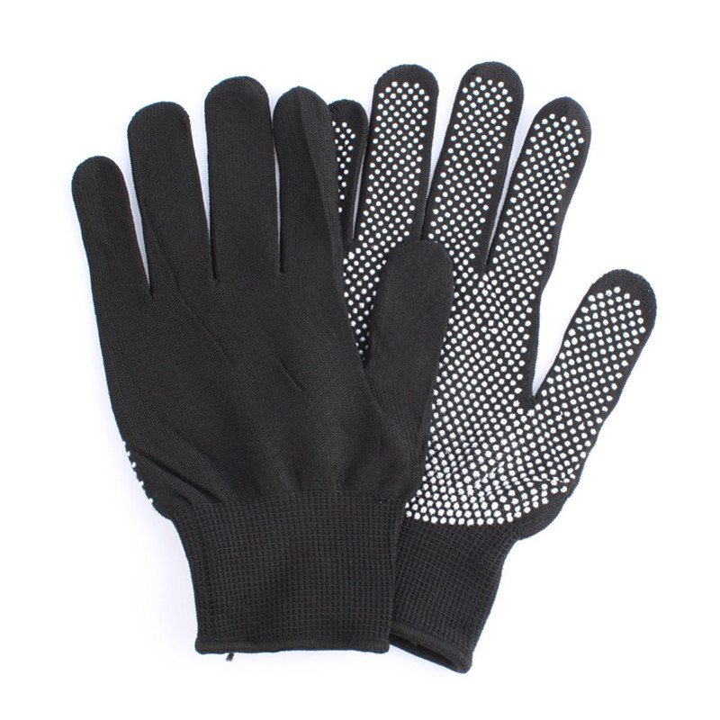 HOT Sale 1 Pair Hair Straightener Perm Curling Hairdressing Heat Resistant Finger Glove Black Grey ColorHOT Sale 1 Pair Hair Straightener Perm Curling Hairdressing Heat Resistant Finger Glove Black Grey Color