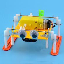 LEROY DIY ходьба RC робот игрушка паровой развивающий Набор Подарок для ребенка Детская Игрушка легко собрать