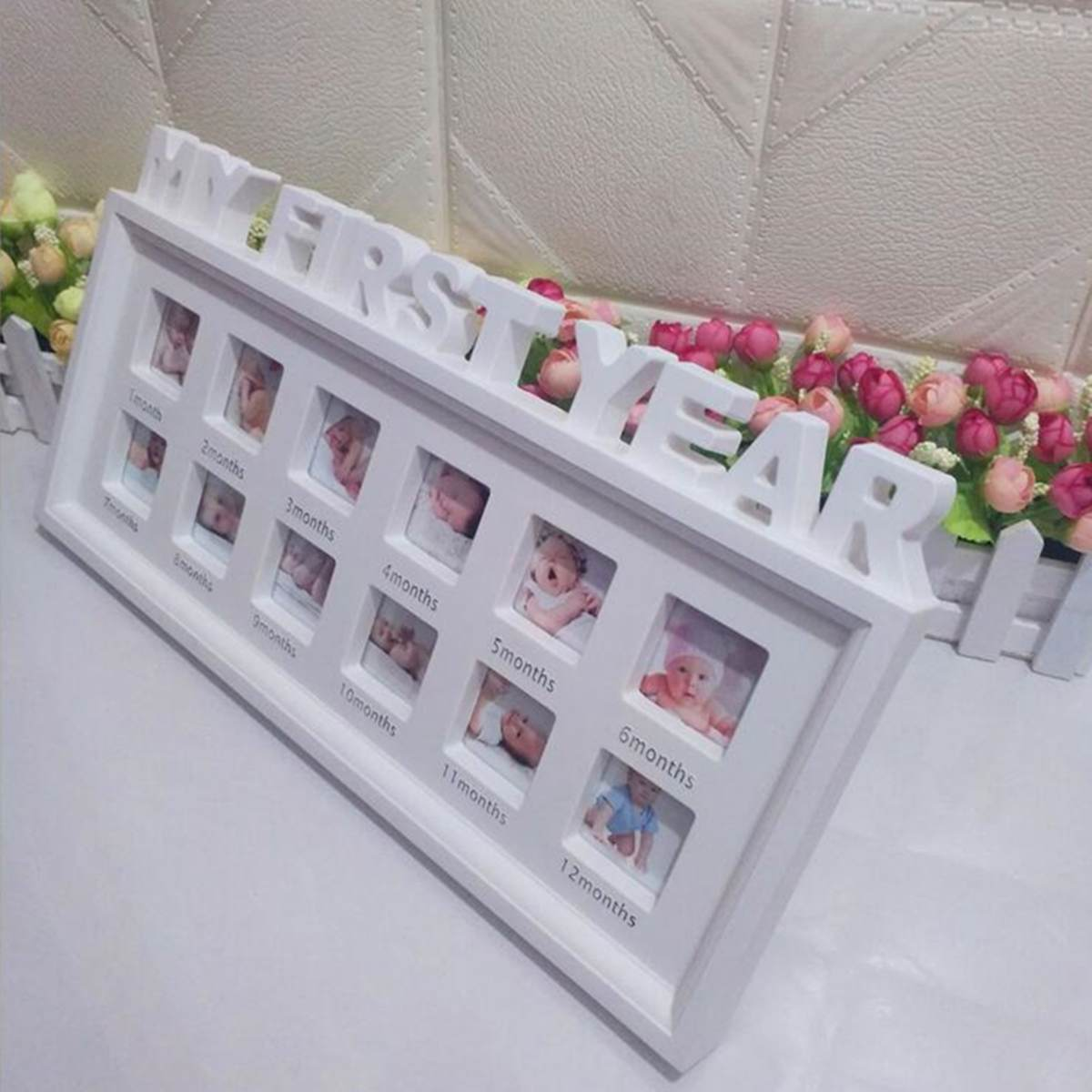 9f668e1eec76 My First Year Baby 12 Months Picture Photo Frame Display Newborn Photo Frame  Picture Home Decor