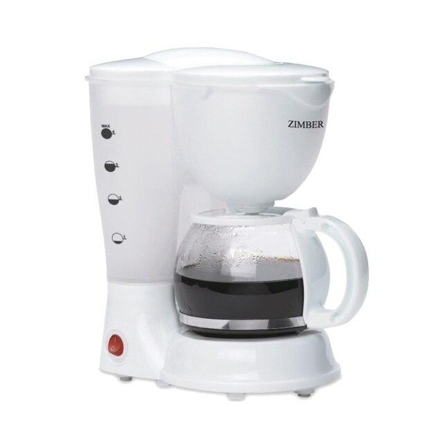 Кофеварка электрическая ZIMBER, 0,625 л, 600W, белый