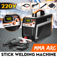 New IGBT Inverter Arc Electric Welding Machine MMA 400A 220V Digital Display Arc Stick Welders Set With Mask For Welding Working