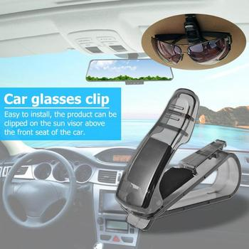 Auto Fastener Clip ABS Car Vehicle Sun Visor Sunglasses Eyeglasses Glasses Holder Ticket Clip image