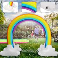 230x170cm Kids Inflatable Water Sprinkler Rainbow Child Play Fun Garden Beach Outdoor Toy Environmental Safe PVC Material