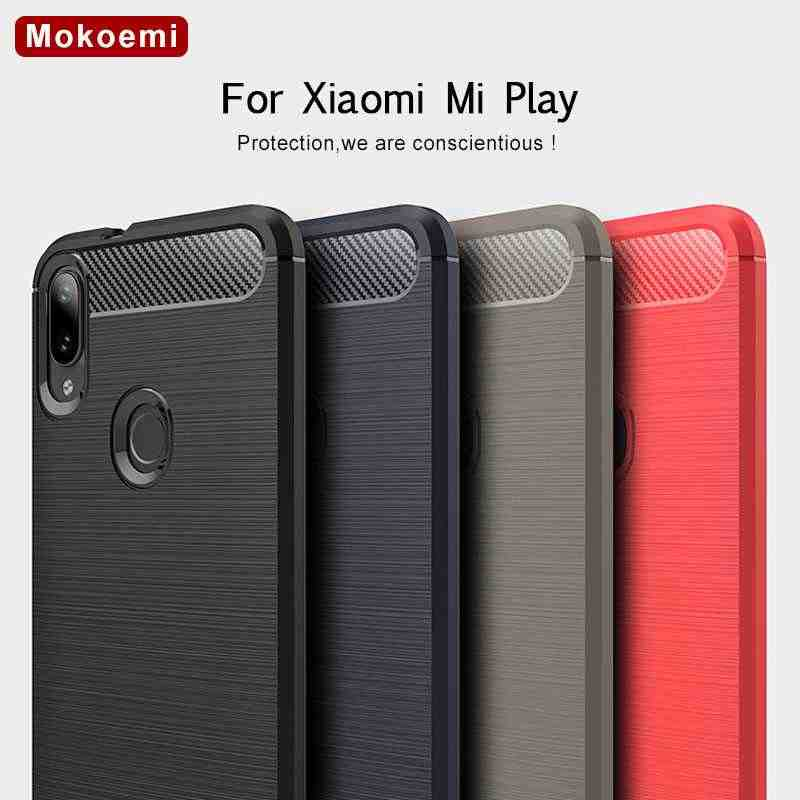 "Mokoemi Fashion Shock Proof Soft Silicone 5.84""For Xiaomi Mi Play Case For Xiaomi Mi Play Cell Phone Case Cover"