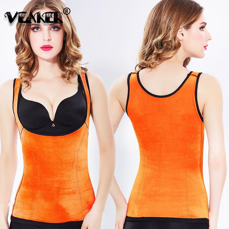 Women Thermal Underwear Camisoles Tanks winter warm Velvet Sleeveless Undershirt Fleece Vest Body Corset Lingerie Shapewear