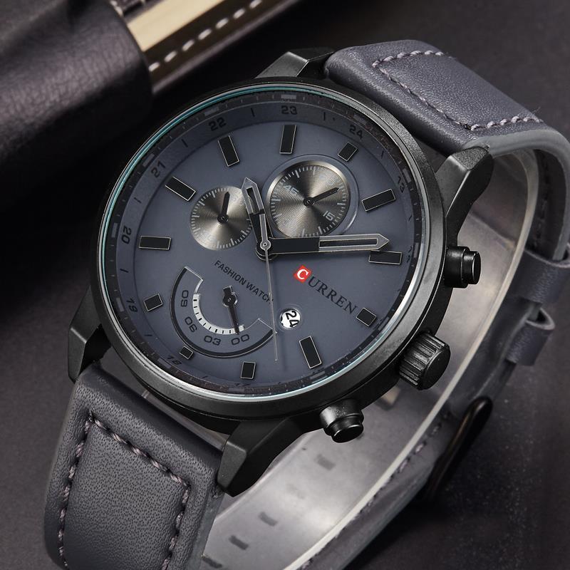 Top Marke Luxus männer Sport Uhren Mode Lässig Quarzuhr Männer Military Armbanduhr Männlichen Relogio Uhr CURREN 8217