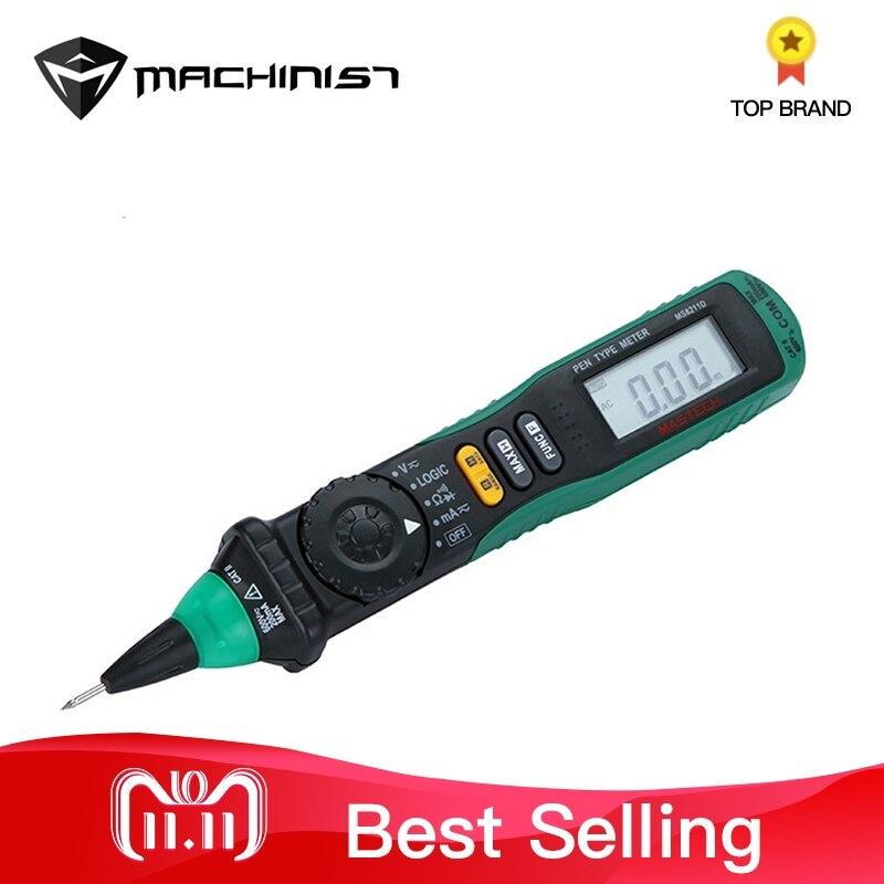 Pen Type Digital Multimeter LCD Display Voltage Current Tester Auto Repair Universal Meter Car Ammeter Voltmeter Handheld lcd digital waterproof pen type salt meter tester 0 5 0