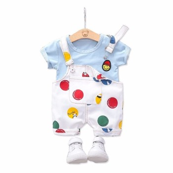 Summer Toddler Infant Clothing Sets Baby Girls Boys Clothes T Shirt Strap Shorts 2pcs/Sets Kids Children Casual Fashion Costume casual summer gentleman style kids boys clothing sets cotton sling strap costume shirt short jeans boys clothes suits