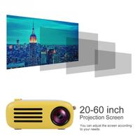 YG200 Mini Home HD 1080P LED Portable Projector HDMI USB Home Cinema Support Computer Phones Projector