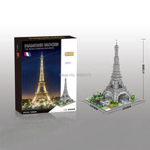 hot LegoINGlys creators famous city Street view MOC Eiffel Tower Paris France micro diamond building block model brick toys gift world famous history cultural architecture building block moscow kremlin russia model brick educational toys collection for gift