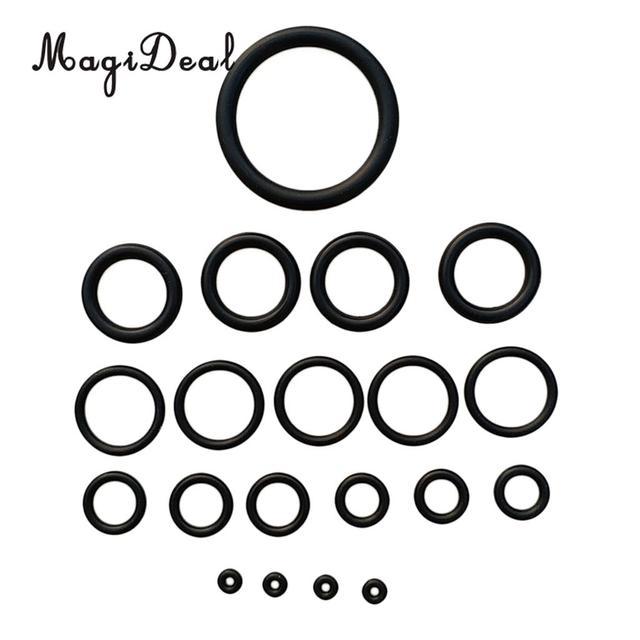 MagiDeal 20 Pieces Standard Scuba Diving O-Ring Kit for Dive BCD, Regulator, Hose, Tank, Cylinder, Camera