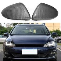 1 Pair Carbon Fiber Mirror Cover for Golf MK7 14 18 Look Side Rearview Mirror Shell for Golf Car Auto Styling Accessories