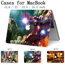 Новый для ноутбука MacBook Чехол для ноутбука для MacBook Air Pro retina 11 12 13,3 15,4 дюймов с защитой экрана клавиатуры