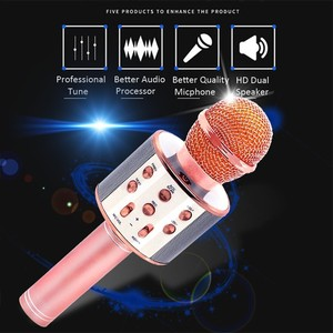 Image 2 - WS858 Wireless Karaoke Microphone Speaker Portable Bluetooth Home KTV Singing Handheld & Music Player Mic For Ios Andriod Phone