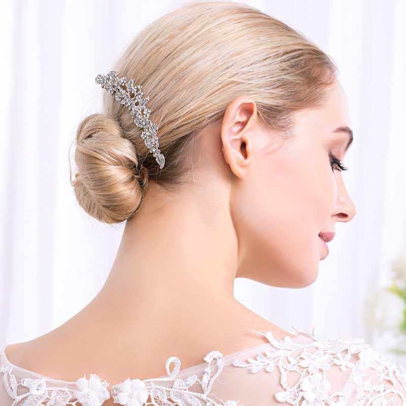 Peignes de cheveux décoratifs de mariée accessoires de cheveux coiffes de mariage strass perle papillon Clip Rose or diadème filles d'or