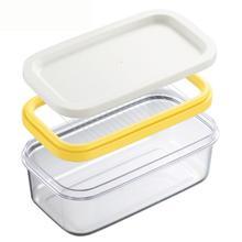 Резак для масла из нержавеющей стали, Ломтерезка для сыра, стекло, хранитель масла, контейнер, коробка, Многофункциональные кухонные аксессуары, 40