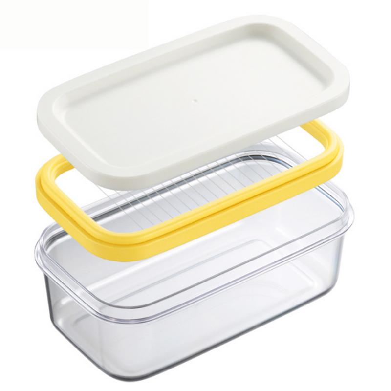 Butter Cutter Stainless Steel Slicer Cheese Glass Butter Keeper Container Box Multifunction Kitchen Accessories 40
