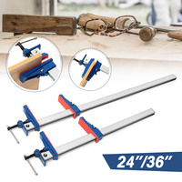 24/36 Inch 1/2pcs F Clamp Bar Heavy Holder Grip Release Parallel Wood Hand DIY T Bar Wood Clamps for Woodworking Tool