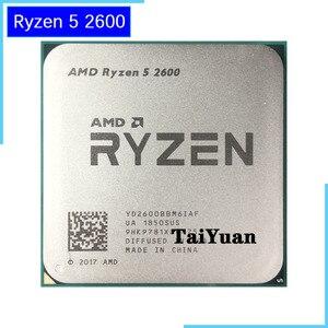 Image 1 - AMD Ryzen 5 2600 R5 2600 3.4 GHz ستة النواة اثني عشر النواة 65 واط معالج وحدة المعالجة المركزية YD2600BBM6IAF المقبس AM4