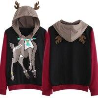 e4c2dce19edff7 New Womens Girls Cute Christmas Reindeer Elk Print Hoodies Hoody Female Elk  Ear Hooded Pullovers Sweatshirts. Ragazze Delle nuove Donne Sveglio Di  Natale ...