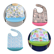 Waterproof Adult Elderly Womens Mens Bib Clothing Eating Mealtime Protector Apron with Food Catcher