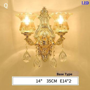 Arandela Para Parede Badkamer Verlichting For Home Wandlamp Lampara De Interior Crystal Aplique Luz Pared Wall Bedroom Light