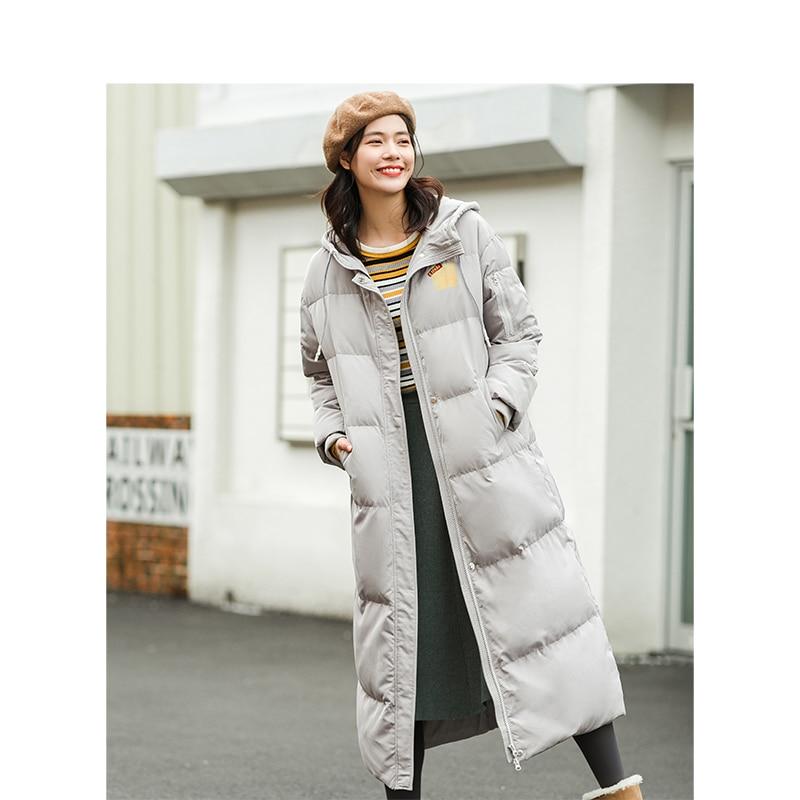 Inman Hiver Le Gray Arrivée Chaude Coréenne Lumière Mince Manteau Longue Bas Nouvelle À Capuchon Femme Et Vers Light xerdCBoW