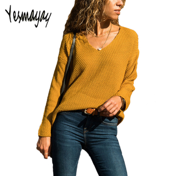 Pullover Knitted Plus Size V-neck Sweaters