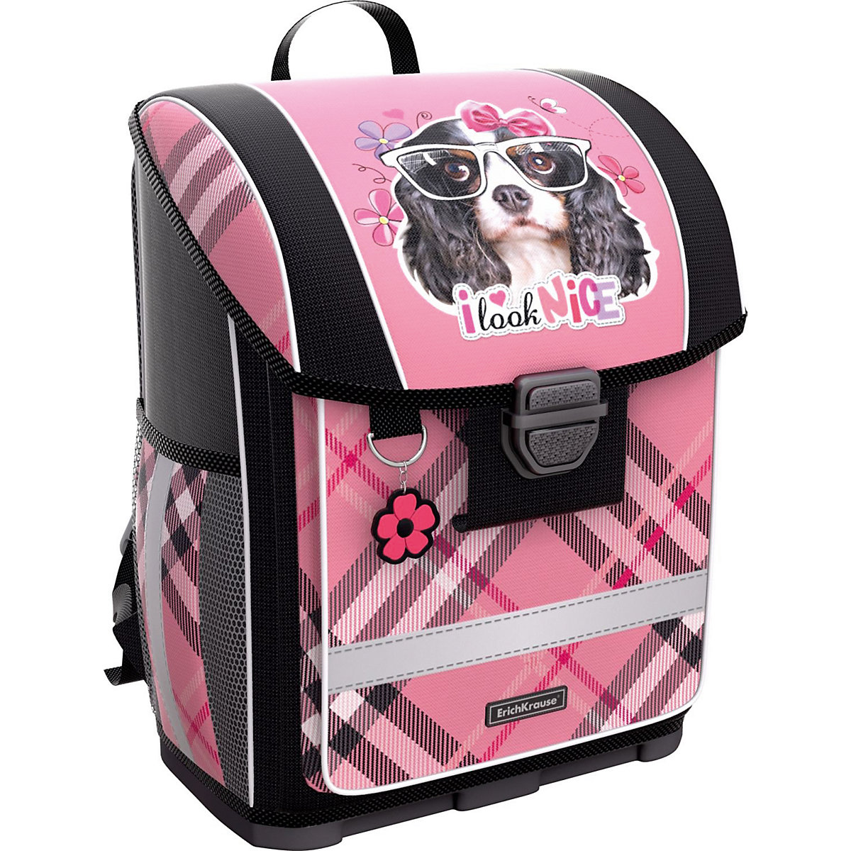 School Bags ERICHKRAUSE 8348514 schoolbag backpack orthopedic bag for boy and girl animals flowers dispalang high quality laptop backpack for men women horse unicorn large school bags for teens casual travel laptop bag rucksack