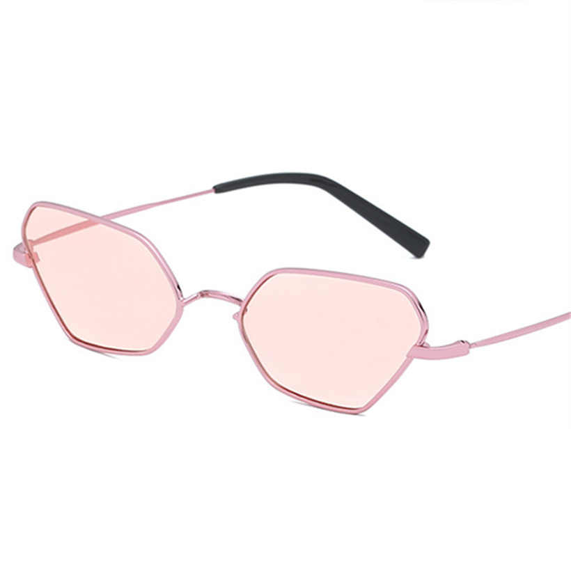 7c2d0da0dd XojoX Cat Eye Sunglasses Women Metal Frame Fashion Yellow Sun Glasses Men  Brand Design Pink Glasses
