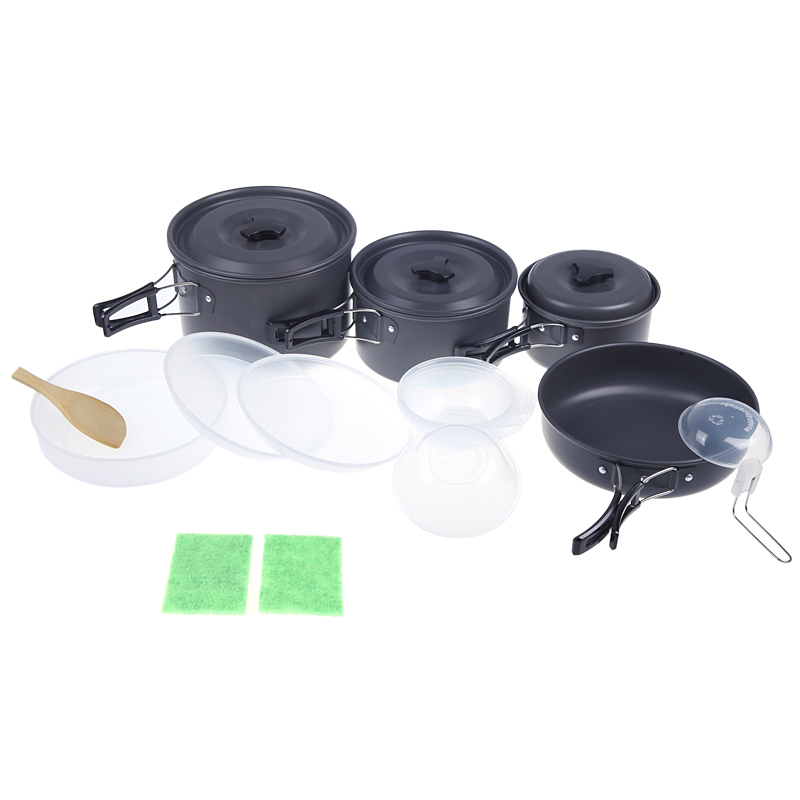 Camping Cookware Camping Utensils Pan Pot Set for 4-5 People Portable Anodised Aluminum Non-stick Outdoor Tableware Cooking SetCamping Cookware Camping Utensils Pan Pot Set for 4-5 People Portable Anodised Aluminum Non-stick Outdoor Tableware Cooking Set