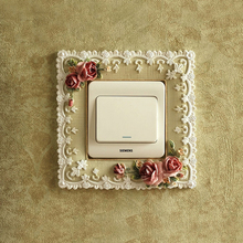Switch Sticker Nordic Floral Home Cover Square Wall Light Socket Stickers Decoration 15*15cm
