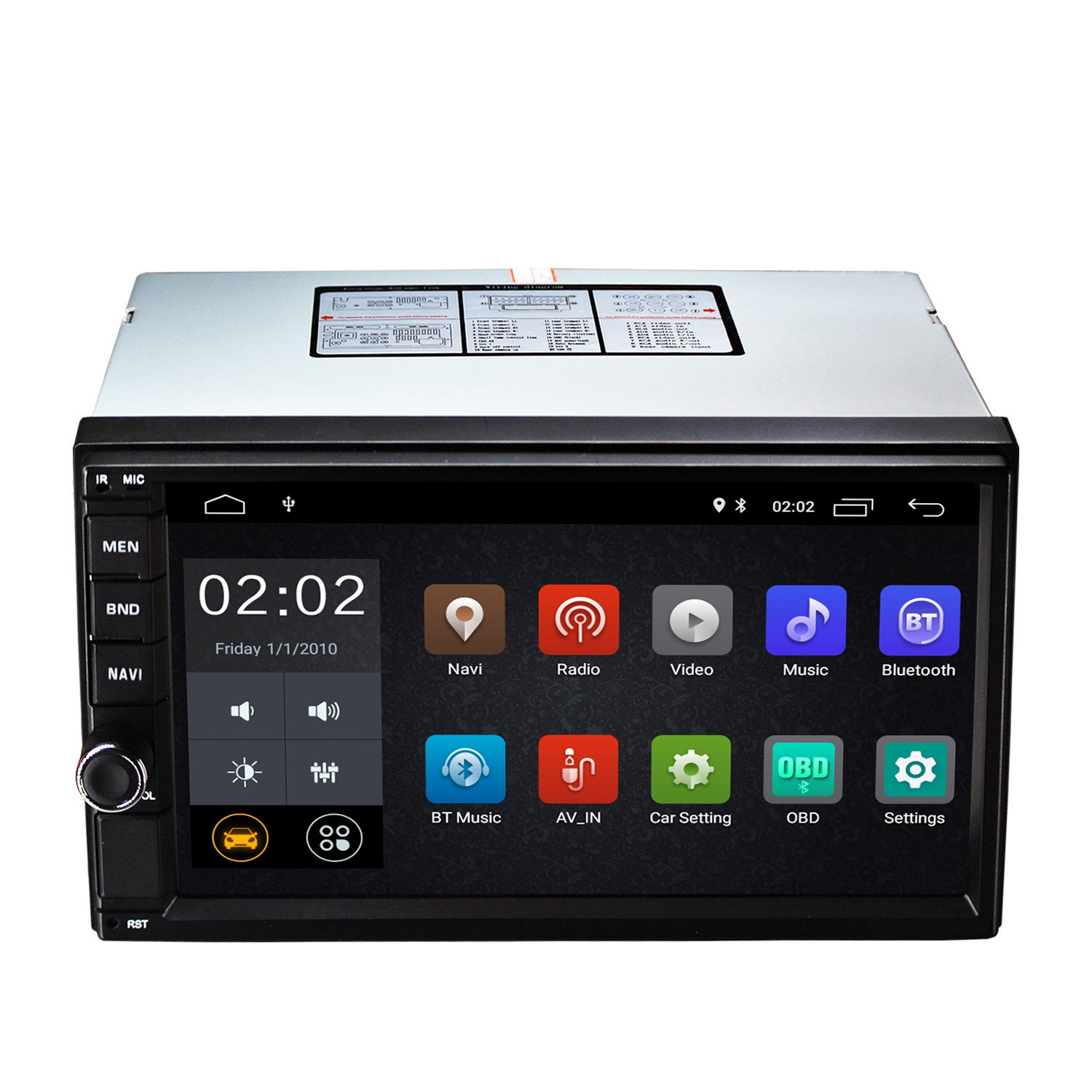 NEW-Android 8.1 2 Din Car 7 Inch Hd Press Screen Player Quad Core 2G Running Memory + 16G Flash Gps Navigation Stereo PlayerNEW-Android 8.1 2 Din Car 7 Inch Hd Press Screen Player Quad Core 2G Running Memory + 16G Flash Gps Navigation Stereo Player