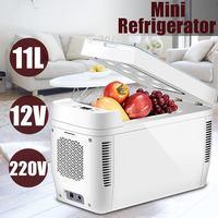 DC 12 В 220 В двухъядерный автомобильный холодильник морозильник 11L автомобильный холодильник Компрессор для автомобиля домашний Пикник холод