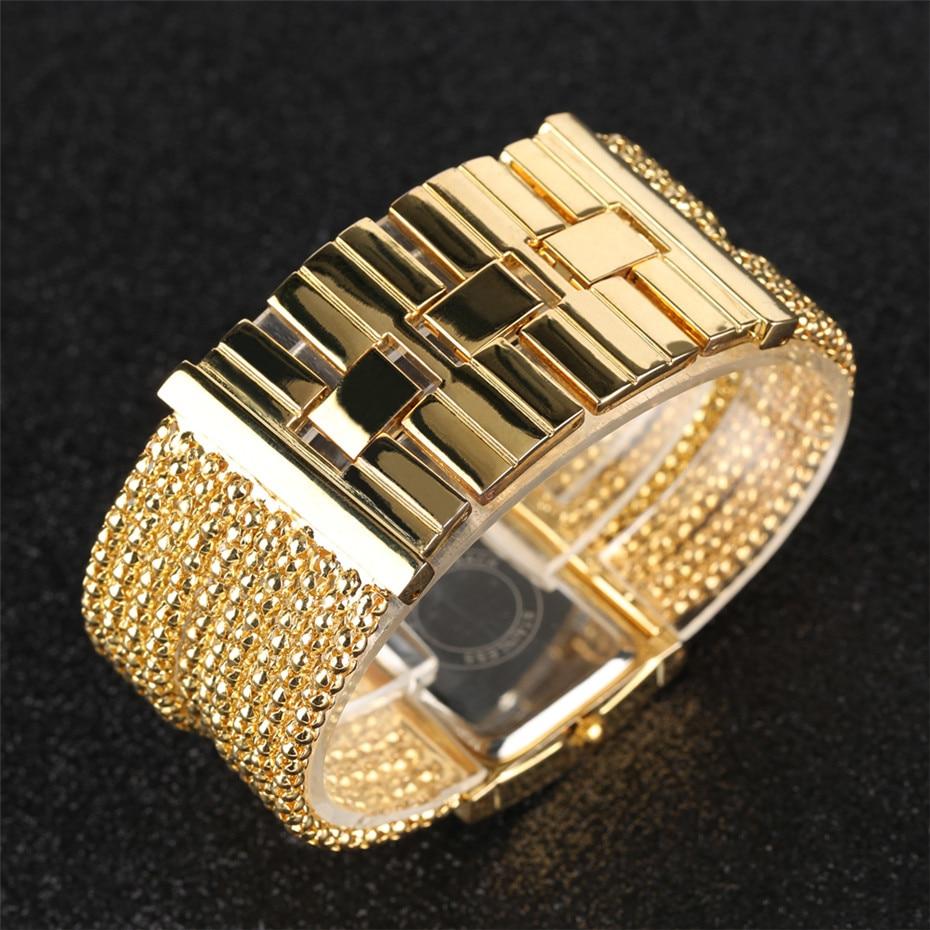 Elegant Womens Watches Quartz Tassel Steel Watch Band Creative Rectangle Lady Wristwatches reloj para mujer New Arrival 2019 3
