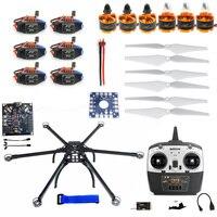 F10513 A шестиосный мульти ротор DIY Hexacopter самолета рамки комплект Radiolink T8FB TX и RX ESC двигатель KK V2.3 платы