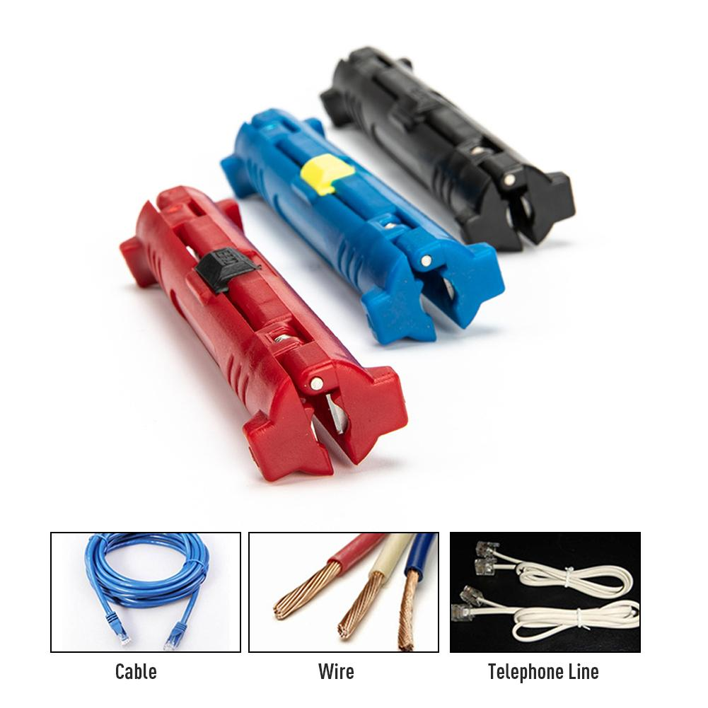 Multifunction Electric Wire Stripper Pen Rotary Coaxial Wire Cable Pen Cutter Stripping Machine Pliers For Cable Puller Tools